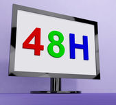 Forty Eight Hour On Monitor Shows 48h Service — Stock Photo