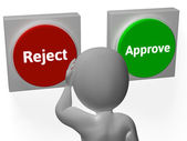 Reject Approve Buttons Show Refusal Or Accepted — Stock Photo