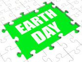 Zagadka dnia ziemi pokazuje środowiska i eco przyjazny — Zdjęcie stockowe