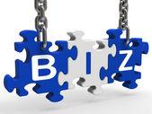 Puzzle biz montre la société ou entreprise — Photo