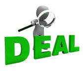 Deal Character Shows Deals Trade Contract Or Dealin — Stock Photo