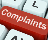 Complaints Key Shows Complaining Or Moaning Online — Stock Photo
