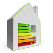 Energy Efficiency Housing Diagram Shows Classification — Stock Photo