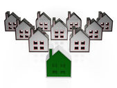 House Symbols Meaning Real Estate For Sale — Stock Photo