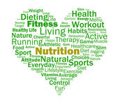 Nutrition Heart Shows Healthy Food Nutrients And Nutritional — Stock Photo