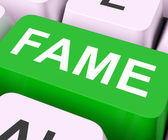 Fame Keys Mean Renowned Or Popula — Stock Photo