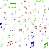 Musical Notes Shows Music Audio Sound Or Entertainment — Stock Photo