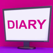 Diary Screen Shows Online Planner Planning Or Scheduler — Stock Photo
