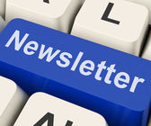Newsletter Key Shows News Letter Or Online Correspondence — Stock Photo