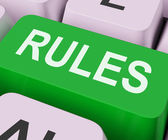 Rules Keys Shows Guidance Policy Or Regulations — 图库照片