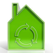 Eco House Showing Environmentally Friendly Home — Stock Photo
