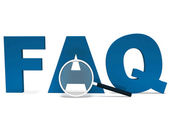 Faq Word Shows Faqs Advice Or Frequently Asked Questions — Stock Photo