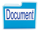 Document On File Meaning Organizing And Paperwork — Zdjęcie stockowe