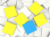 Blank Postit Notes Shows Copyspace Memos And Notices — Stock Photo