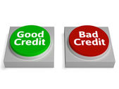 Good Bad Credit Shows Financial Record — Stock Photo