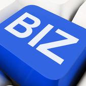 Spectacles clés en ligne de la biz ou business web — Photo