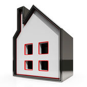 House Icon Shows Home For Sale — Stock Photo