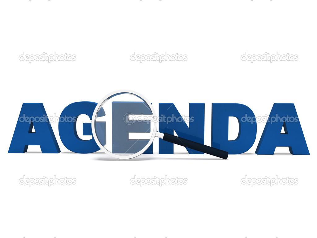 Agenda Word Means To Do Schedule Program Or Agendas Photo – Agenda Word