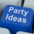 Party Ideas Key Shows Celebration Planning Suggestions — Stock Photo #32853015