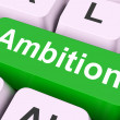 Stock Photo: Ambition Key Means Aim Or Goa