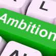 Ambition Key Means Aim Or Goa — Stock Photo