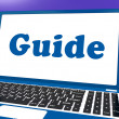 Stock Photo: Guide Laptop Shows Help Organizer Or Guidance