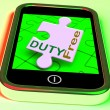 Duty Free On Smartphone Shows Tax Free Purchasing — Stock Photo #32850075