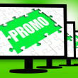 Promo Screen Shows Promotional Rebates Discounts And Rebate — Stock Photo #32850131