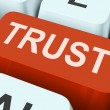 Trust Key Means Believe Or Fait — Stock Photo