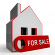 For Sale Sign On Property — Stock Photo