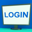 Log In Screen Shows Website Internet Login Security — Stock Photo