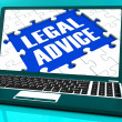 Legal Advice Laptop Shows Criminal Attorney Expert Guidance — Stock Photo #32850575