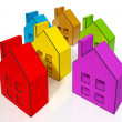 Foto Stock: House Symbols Meaning Houses For Sale