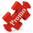 Promo Puzzle Shows Promotion Promos Discounts And Reductions — Stock Photo