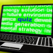 Stock Photo: Quiz Laptop Means Tests Quizzing Or Answers Onlin