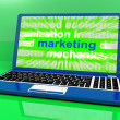Marketing Laptop Shows Web Emarketing And Sales Online — Stock Photo