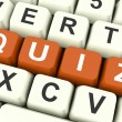 Quiz Keys Show Test Or Questions And Answer — Stock Photo