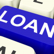 Stock Photo: LoKey Means Lending Or Loanin