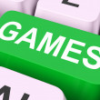 Games Key Shows Online Gaming Or Gambling — Stock Photo