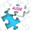 Guide Puzzle Shows Consulting Guidance Guideline And Guiding — Stock Photo