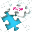 Guide Puzzle Shows Consulting Guidance Guideline And Guiding — Stock Photo #32851191