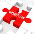 Stock Photo: Workflow Puzzle Shows Process Flow Or Procedure