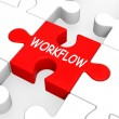 Workflow Puzzle Shows Process Flow Or Procedure — Stock Photo