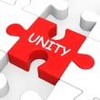 Stock Photo: Unity Puzzle Shows Team Teamwork Or Collaboration