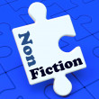 Non Fiction Puzzle Shows Educational Material Or Text Books — Stock Photo
