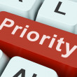 Priority Key Means Greater Importance Or Primacy — Stock Photo