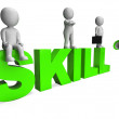 Stockfoto: Skill Characters Shows Expertise Skilled And Competence