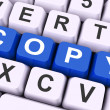 Stock Photo: Copy Key Shows Copying Duplicating Or Replicat