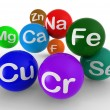 Chemical Symbols Showing Chemistry And Science — Stock Photo