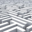 Stock Photo: Maze Shows Problem Or Complexity